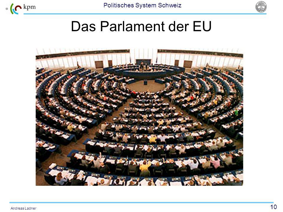 10 Politisches System Schweiz Andreas Ladner Das Parlament der EU
