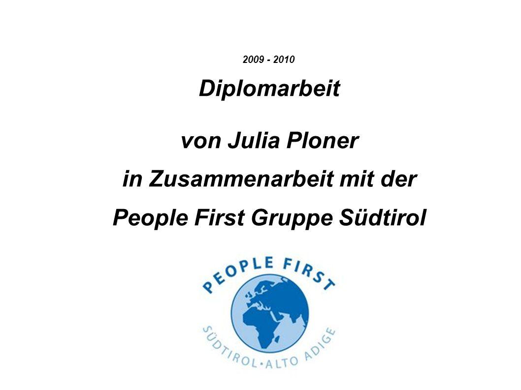 People First = Ansprechpartner bei Problemen Darüber müssen die Mitglieder informiert werden.