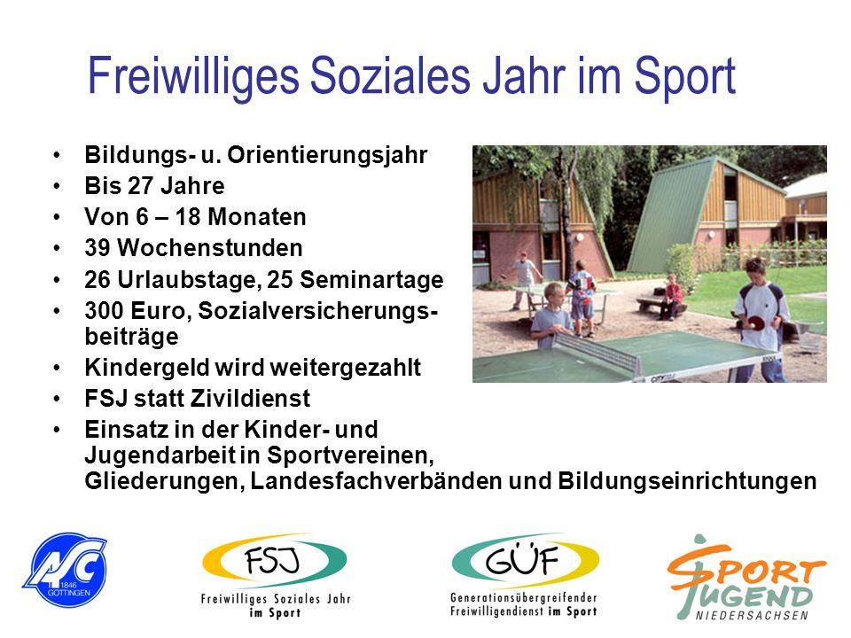 Bildungs- u. Orientierungsjahr Bis 27 Jahre Von 6 – 18 Monaten 39 Wochenstunden 26 Urlaubstage, 25 Seminartage 300 Euro, Sozialversicherungs- beiträge
