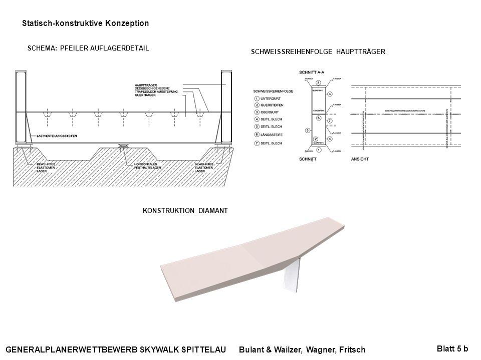 Bulant & Wailzer, Wagner, FritschGENERALPLANERWETTBEWERB SKYWALK SPITTELAU Statisch-konstruktive Konzeption SCHEMA: PFEILER AUFLAGERDETAIL SCHWEISSREI