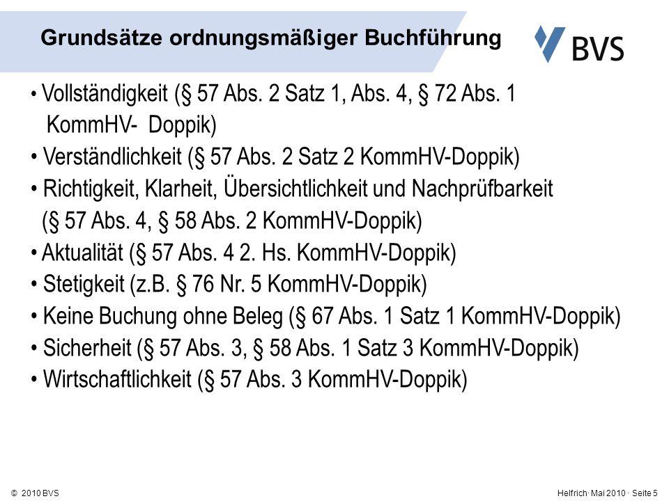 Helfrich· Mai 2010 · Seite 16© 2010 BVS 1.Anlagevermögen 1.1 Immaterielle Vermögensgegenstände 1.2 Sachanlagen 1.3 Finanzanlagen 2.