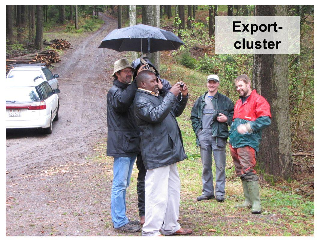 Private Antwort: Balmeggberg Referat Bildungszentrum WWF, 1.6.12, Anton Küchler, Büro Weichen stellen Export- cluster