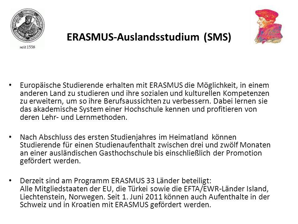 Europäische Studierende erhalten mit ERASMUS die Möglichkeit, in einem anderen Land zu studieren und ihre sozialen und kulturellen Kompetenzen zu erwe