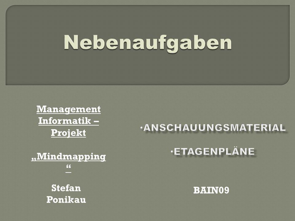 Stefan Ponikau BAIN09 Management Informatik – Projekt Mindmapping