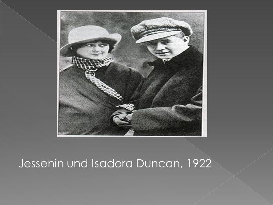 Jessenin und Isadora Duncan, 1922