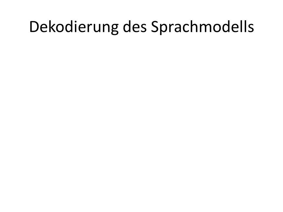 Spracherkennung mit Sphinx HMM-basiert (Hidden Markov Model) Erkennung durch Punkteverteilung (Score) Repräsentation der möglichen Äußerungen durch Graphen (folgende Folie)