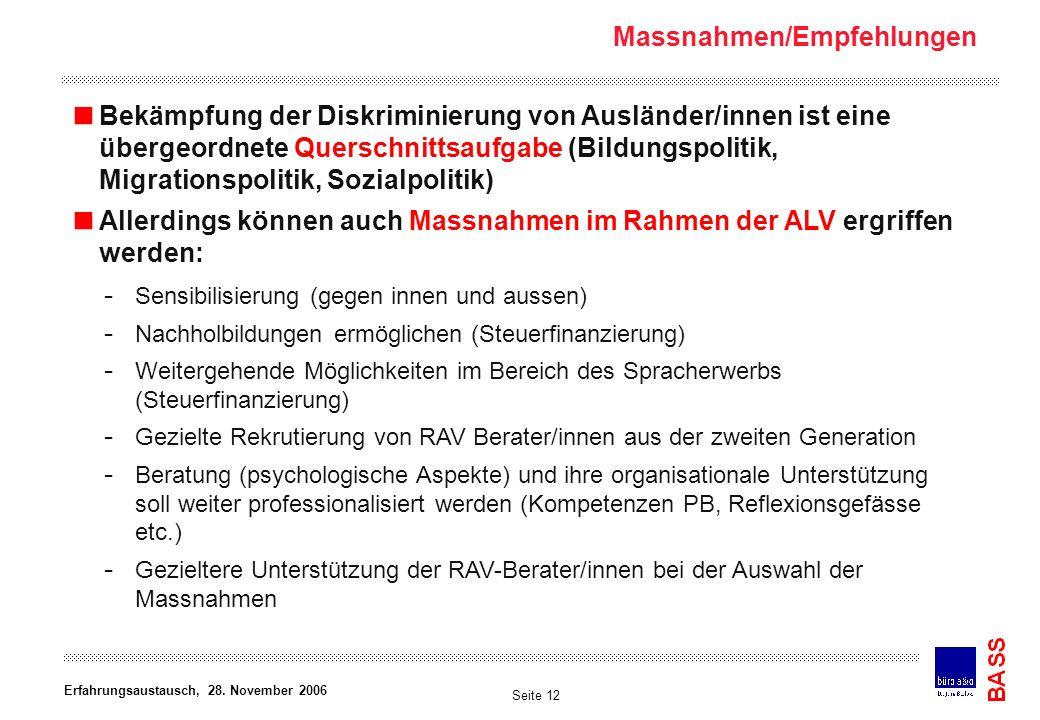 Arbeitsgemeinschaft Büro BASS.Konsumstrasse 20. 3007 Bern.