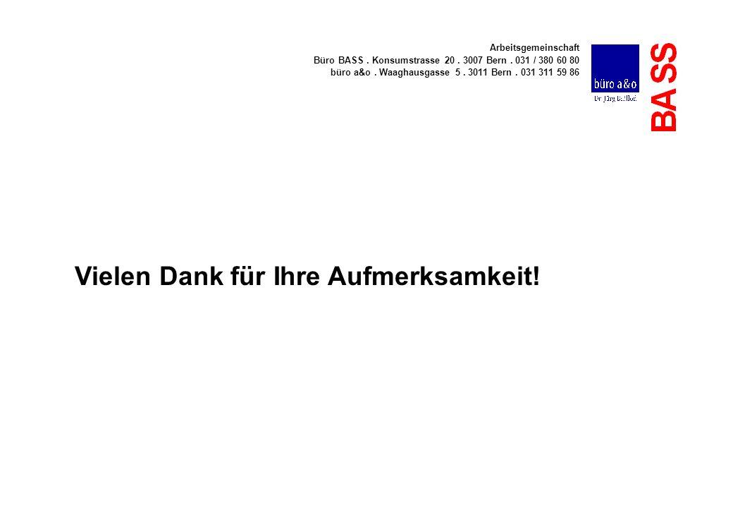 Arbeitsgemeinschaft Büro BASS. Konsumstrasse 20. 3007 Bern. 031 / 380 60 80 büro a&o. Waaghausgasse 5. 3011 Bern. 031 311 59 86 Vielen Dank für Ihre A