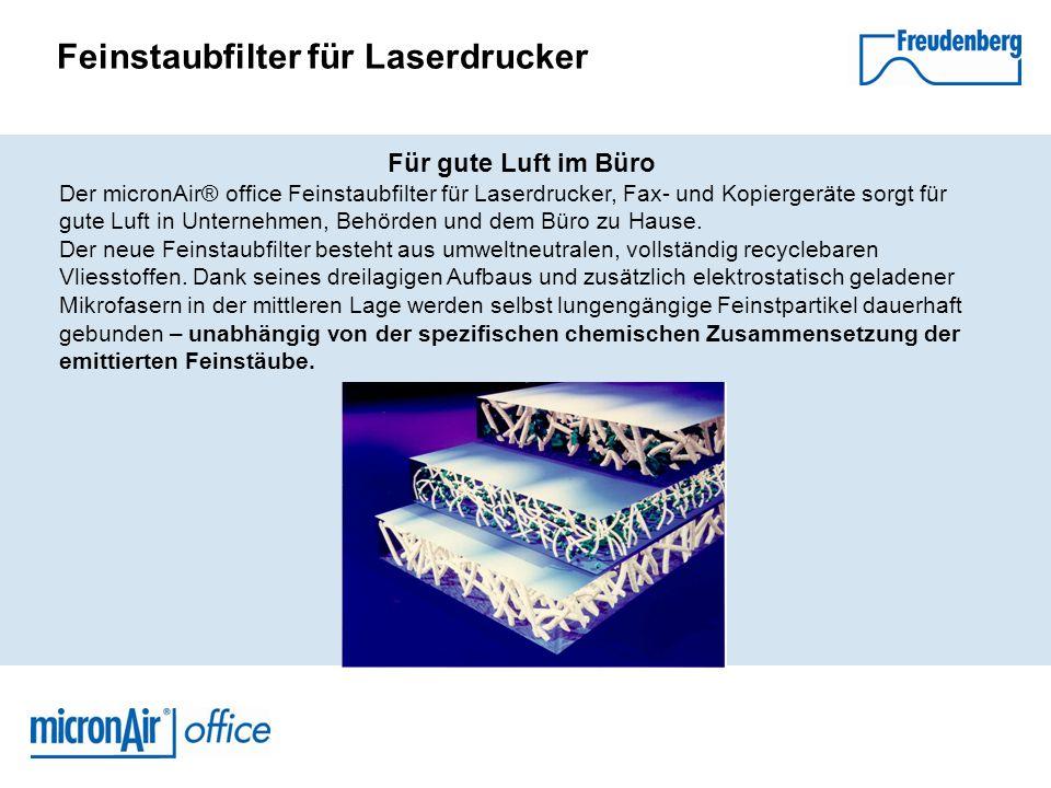 Feinstaubfilter für Laserdrucker TÜV-Nord Zertifikat Auch bei den kürzlich durchgeführten Prüfkammertests des TÜV Nord wurden erhebliche Feinstaubemissionen bei tonerbasierten Geräten festgestellt.