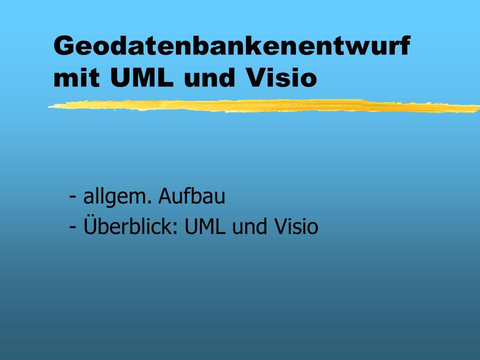 Geodatenbankenentwurf mit UML und Visio - allgem. Aufbau - Überblick: UML und Visio