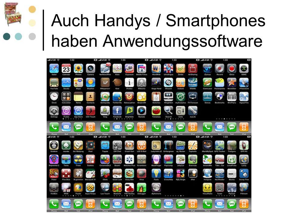 Auch Handys / Smartphones haben Anwendungssoftware