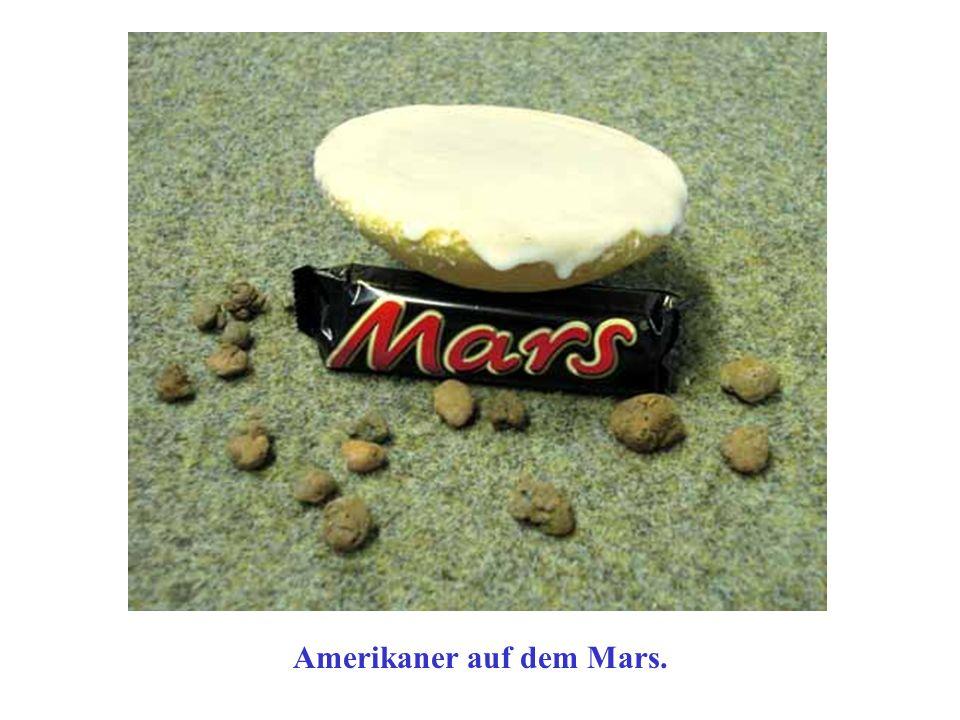Amerikaner auf dem Mars.