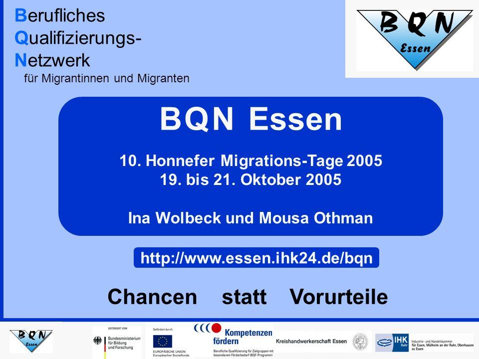 Berufliches Qualifizierungs- Netzwerk für Migrantinnen und Migranten 10.