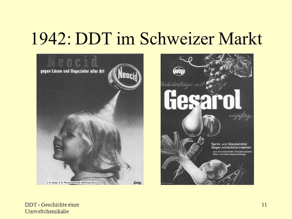 DDT - Geschichte einer Umweltchemikalie 11 1942: DDT im Schweizer Markt