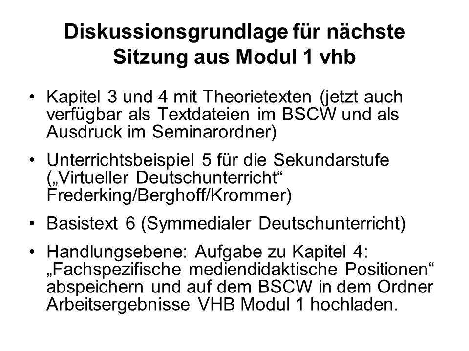 Einführung in die Literatur-, Sprach- und Mediendidaktik Deutsch (Basismodul) 10. Sitzung Dr. Christel Meier