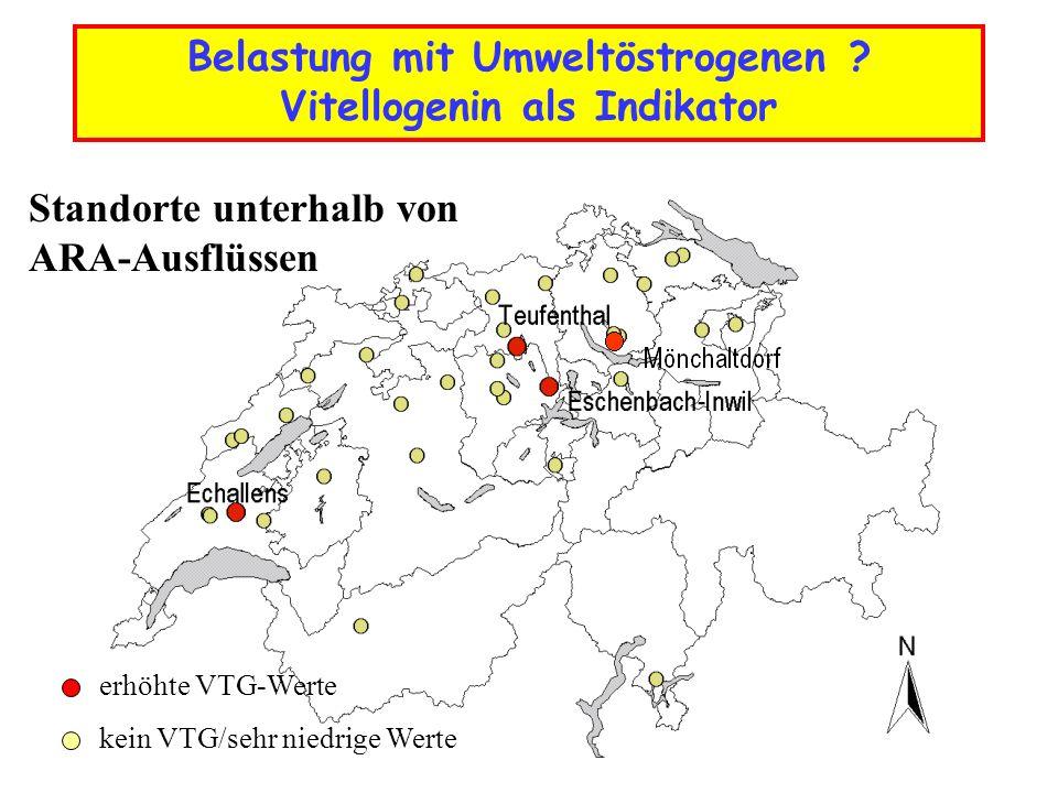 Wie verbreitet ist die PKD in Schweizer Gewässern ? PKD-positiv PKD-negativ