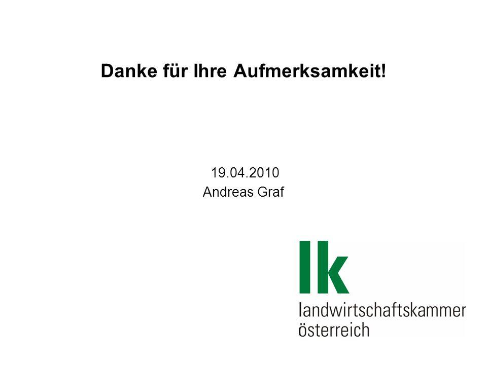 Danke für Ihre Aufmerksamkeit! 19.04.2010 Andreas Graf