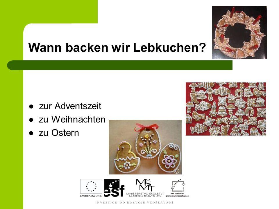 Zutaten für die Glasur Wie nennt man sie auf Deutsch.