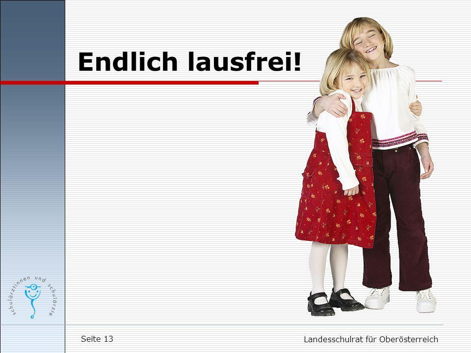 Seite 13 Landesschulrat für Oberösterreich Endlich lausfrei!