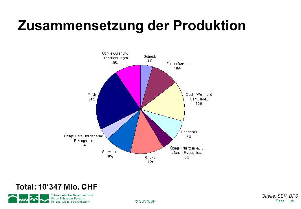 Schweizerischer Bauernverband Union Suisse des Paysans Unione Svizzera dei Contadini 16Seite © SBV/USP Fortbestand Familienbetrieb 2005 Quelle: SBV Statistik, BLW