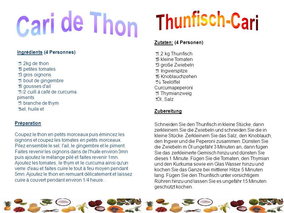 Zutaten: (4 Personen) 1,2 kg Thunfisch 8 kleine Tomaten 3 große Zwiebeln 1 Ingwerspitze 6 Knoblauchzehen ½ Teelöffel Curcumapeperoni 1 Thymianzweig Öl, Salz Zubereitung Schneiden Sie den Thunfisch in kleine Stücke, dann zerkleinern Sie die Zwiebeln und schneiden Sie die in kleine Stücke.
