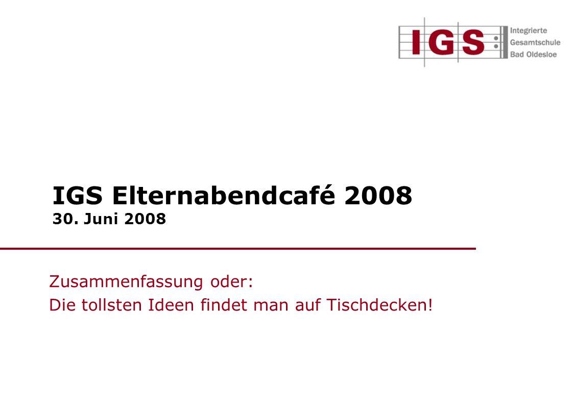 IGS Elternabendcafé 2008 30.