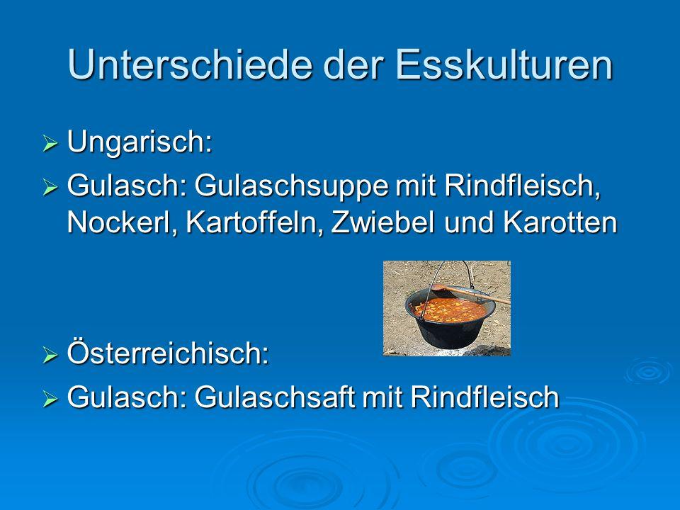 Ungarisch: Ungarisch: Salat mit Öl und Essig Salat mit Öl und Essig Österreichisch: Österreichisch: Salat mit Kernől, Essig und Salz Salat mit Kernől, Essig und Salz