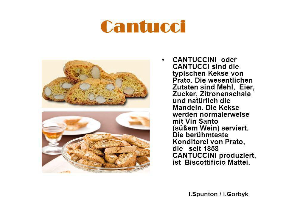 Cantucci CANTUCCINI oder CANTUCCI sind die typischen Kekse von Prato.