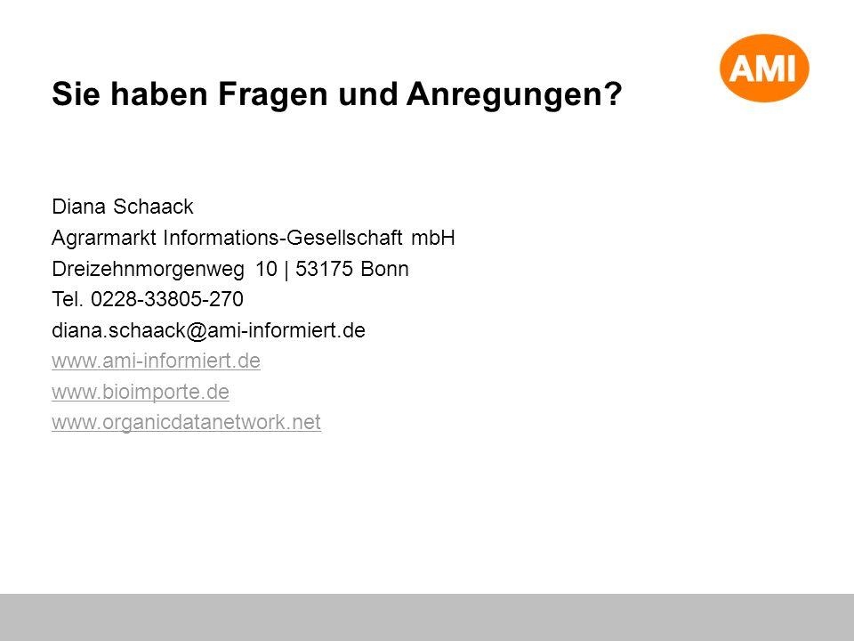 Diana Schaack Agrarmarkt Informations-Gesellschaft mbH Dreizehnmorgenweg 10 | 53175 Bonn Tel. 0228-33805-270 diana.schaack@ami-informiert.de www.ami-i