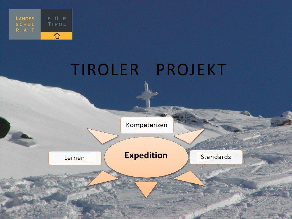 TIROLER PROJEKT Expedition Kompetenzen StandardsLernen 18.04.2014 Elfriede Alber und Birgit Schlichtherle,