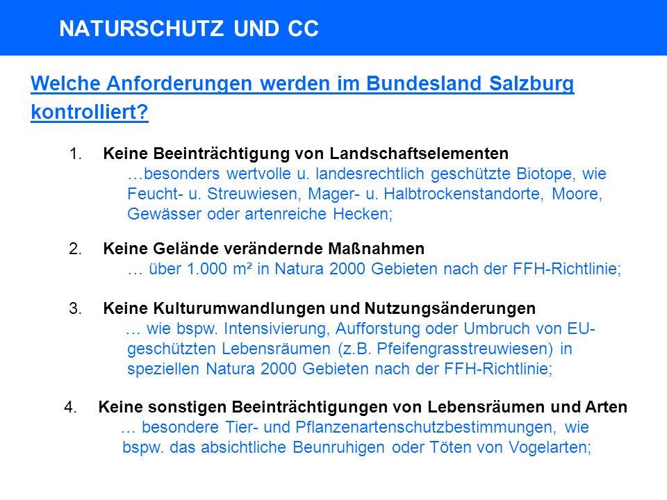 Welche Anforderungen werden im Bundesland Salzburg kontrolliert.