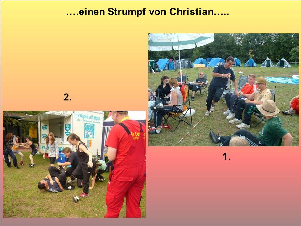 ….einen Strumpf von Christian….. 1. 2.