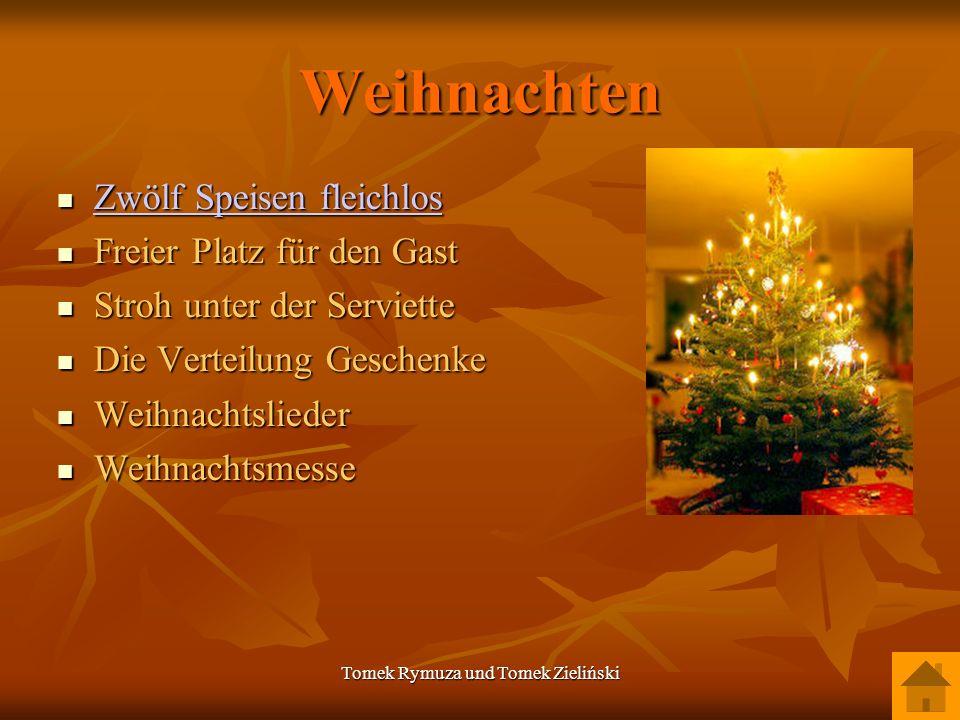 Tomek Rymuza und Tomek Zieliński Weihnachten Zwölf Speisen fleichlos Zwölf Speisen fleichlos Zwölf Speisen fleichlos Zwölf Speisen fleichlos Freier Pl