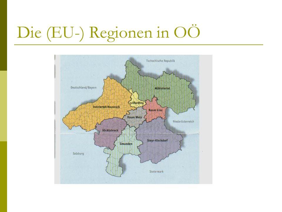 Die (EU-) Regionen in OÖ