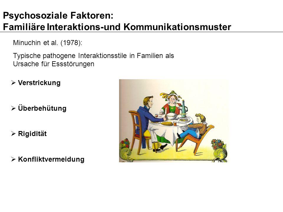 Psychosoziale Faktoren: Familiäre Interaktions- und Kommunikationsmuster Aktuelle Querschnittsbefunde finden Hinweise auf gestörte familiäre Interaktionsmuster (z.B.
