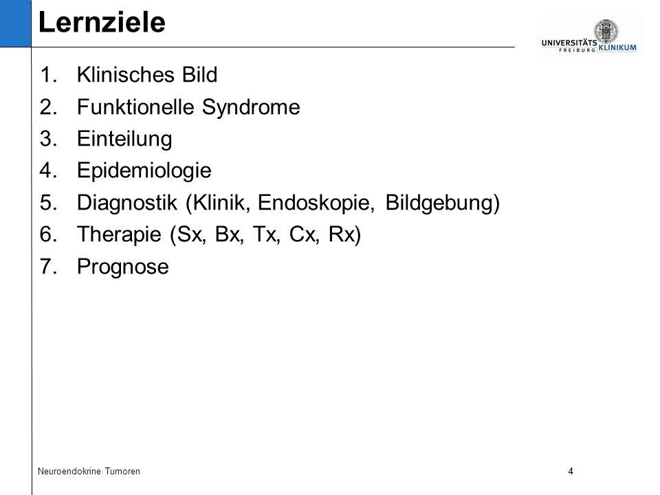 15 Was führte zur Verdachtsdiagnose eines NET mit Karzinoidsyndrom.