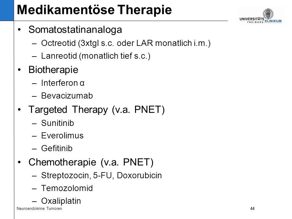44 Somatostatinanaloga –Octreotid (3xtgl s.c.