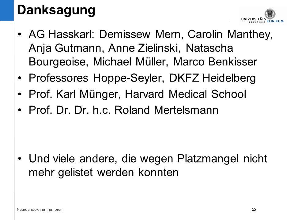 52 AG Hasskarl: Demissew Mern, Carolin Manthey, Anja Gutmann, Anne Zielinski, Natascha Bourgeoise, Michael Müller, Marco Benkisser Professores Hoppe-Seyler, DKFZ Heidelberg Prof.
