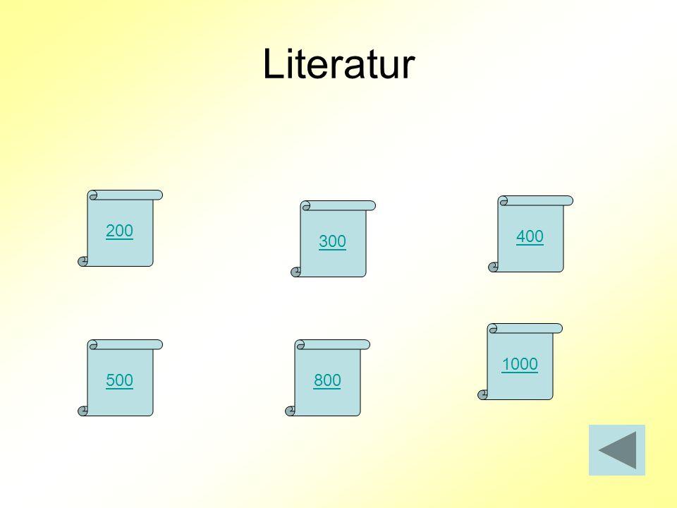 Literatur 200 300 400 500800 1000