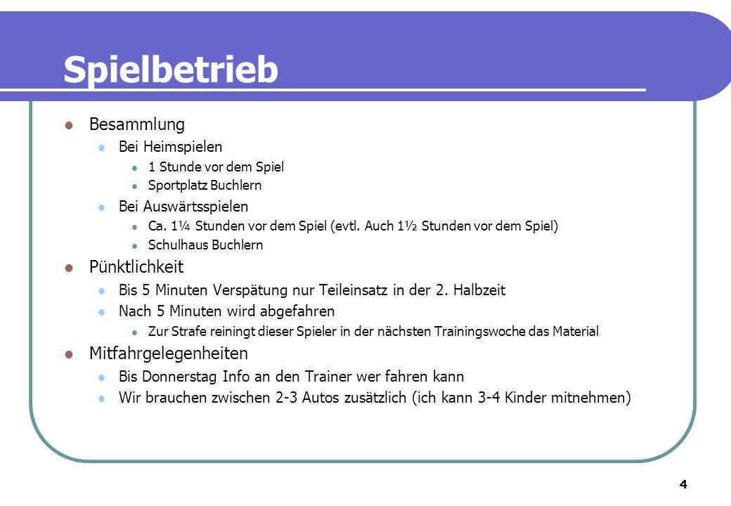5 Trainingsbetrieb Trainingsplan Sommer Mannschaftstraining Dienstag und Donnerstag Rasenplatz 8, Sportplatz Buchlern –> 17:30 Uhr – 19:00 Uhr Goalitraining (Rolf Müller, ein ehem.