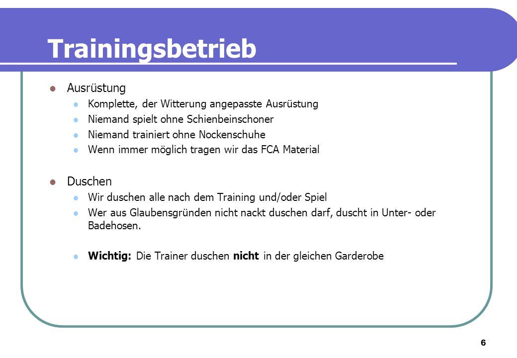 7 Trainingsweekend in Huttwil Datum: Freitag, 27.3.09 bis Sonntag 29.3.09 Wo: Sportcenter in Huttwil Kosten: ohne Mannschaftskassen Beteiligung Fr.
