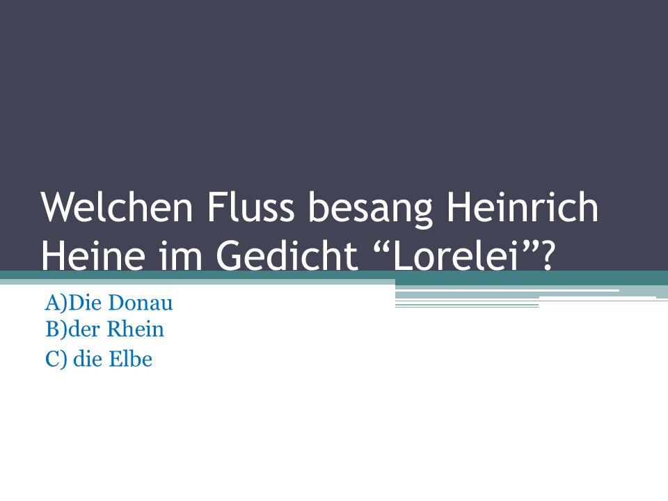 Wo wurde Goethe –und- Schiller- Denkmal gestellt? A)In Dresden B)In Leipzig C)In Weimar