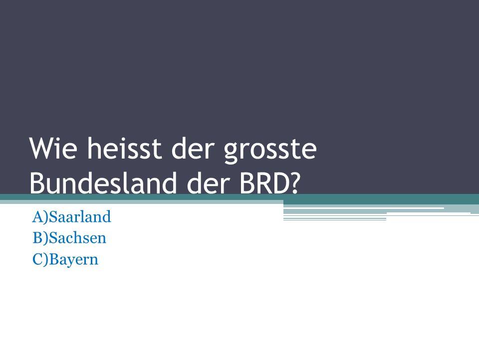 In welches Meer mundet der Rhein? A)Die Nordsee B)Das Schwarze Meer C)Die Ostsee