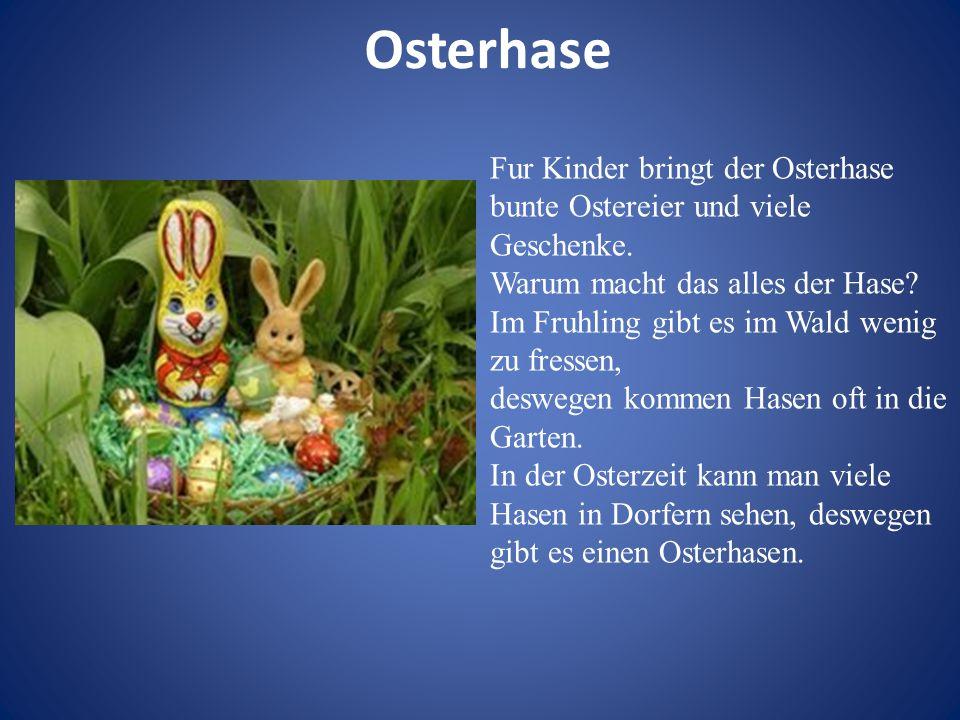 Osterhase Fur Kinder bringt der Osterhase bunte Ostereier und viele Geschenke. Warum macht das alles der Hase? Im Fruhling gibt es im Wald wenig zu fr