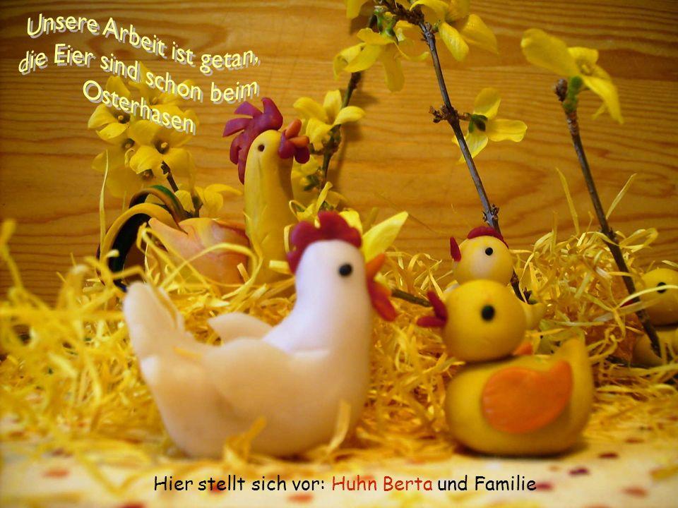 Hier stellt sich vor: Huhn Berta und Familie