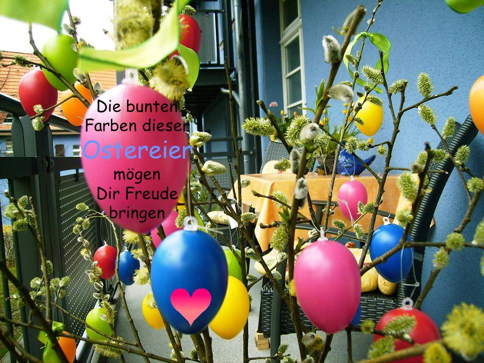Ich, Euer Osterhase, wünsche ein frohes Osterfest.