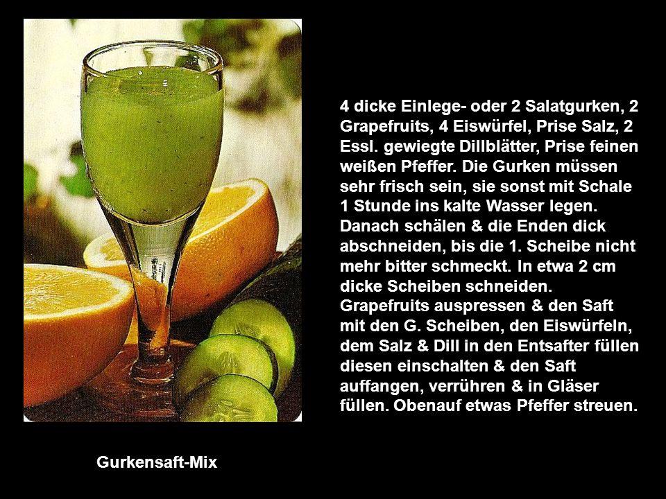 Honig-Frucht-Kaltschale 2 Äpfel, ½ l Apfelsaft, ½ l Traubenmost, 4 Essl.