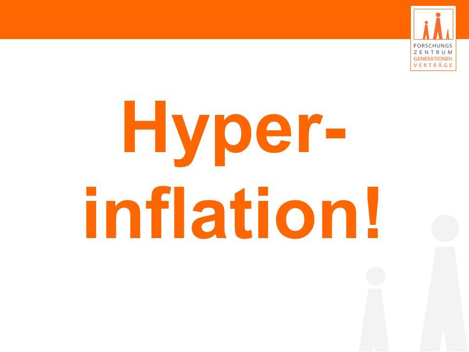 Wirtschaft und Soziales: Was war los in den letzten 12 Monaten? Hyper- inflation!