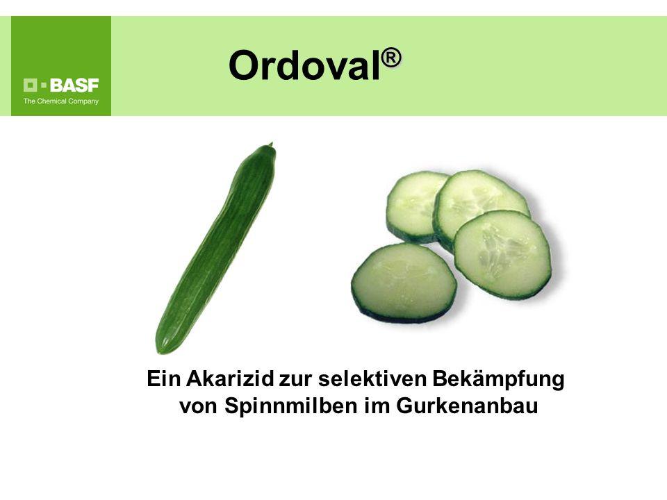 Ein Akarizid zur selektiven Bekämpfung von Spinnmilben im Gurkenanbau ® Ordoval ®