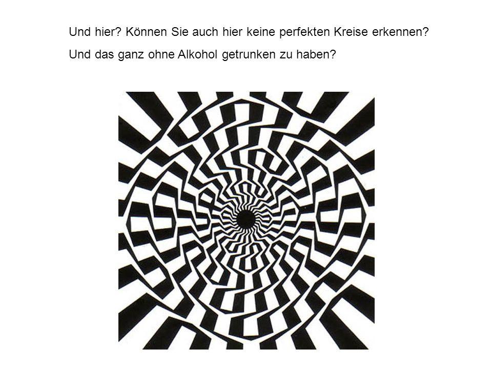 Und hier? Können Sie auch hier keine perfekten Kreise erkennen? Und das ganz ohne Alkohol getrunken zu haben?